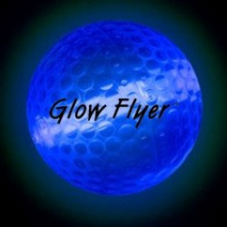 Blue Glow Flyer Golf Ball (with a 1 1/2'' Jumbo Lightstick)
