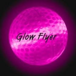 Pink Glow Flyer Ball (with a 1 1/2'' Jumbo Lightstick)