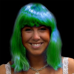 Green Neon Wig