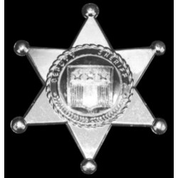 "Silver Plastic 3"" Sheriff Badges"