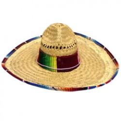 Serape Trimmed Adult Sombrero