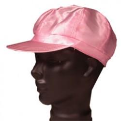 Pink Satin Newsboy Cap