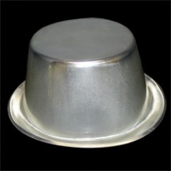 Silver Plastic Top Hats