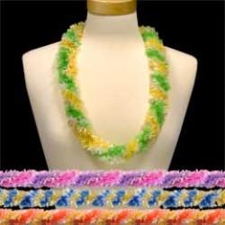 Tie Dye Fringed Plastic Leis