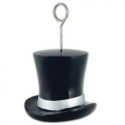 Silver Top Hat Balloon Weight