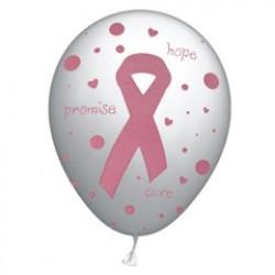 Pink Ribbon Latex Balloons