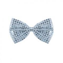 Silver Sequin Bow Tie