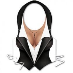 Ladies Tuxedo Vest