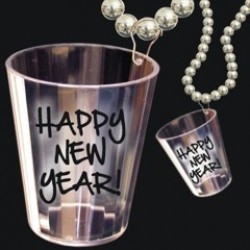 Happy New Year Shot Glass Beads
