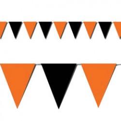 Orange & Black Pennant Banner