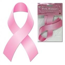 Pink Ribbon  4'' Cutouts