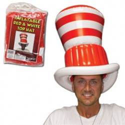 Red and White Stripe Inflatable Hat