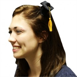 Black Graduation  Cap Fascinator