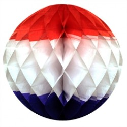 Patriotic Honeycomb 12''  Tissue Ball