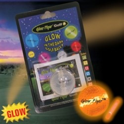 ORANGE GLOW FLYER GOLFBALL   w/ 1 MINI LIGHTSTICK   (Retail Blister Card)