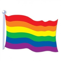 Rainbow Freedom Flag Cutout