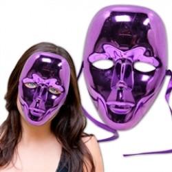 Purple Metallic Full Face Masks