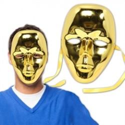 Gold Metallic Full Face Masks