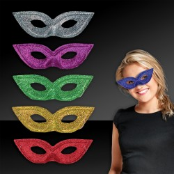 Assorted Color Glitter Masks