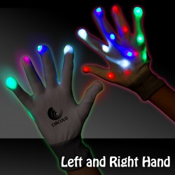 Light Up Rainbow Gloves