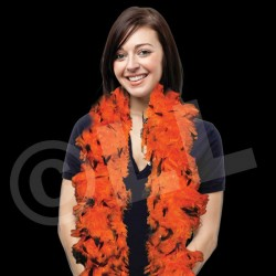 60 Gram Orange & Black Feather Boa
