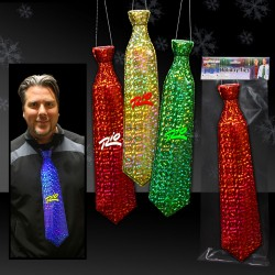 Prismatic Plastic Neckties - Variety of Colors