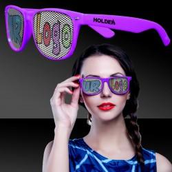 Purple Custom Classic Retro Billboard Sunglasses