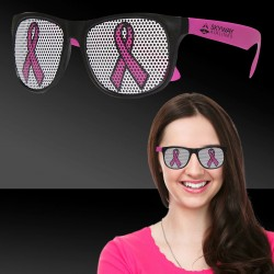 Pink Ribbon Neon Pink Billboard Sunglasses