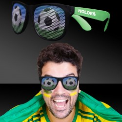 Soccer Neon Green  Billboard Sunglasses