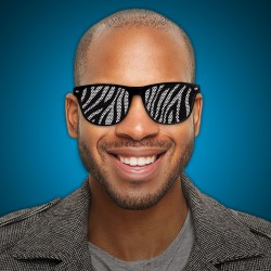 Zebra Print Novelty Sunglasses