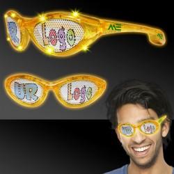 Yellow LED Billboard Sunglasses