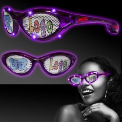 Purple LED Billboard Sunglasses