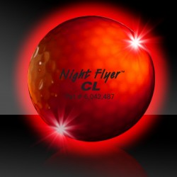Red Night Flyer Golf Balls