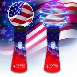 "Patriotic LED 9"" Coin Spinner Wand"