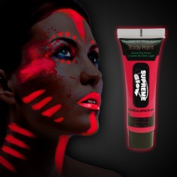 Red Glow in the Dark Body Paint