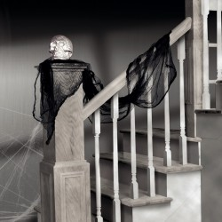 Black Gauze Drape Decoration