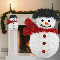 Snowman Tinsel Decoration