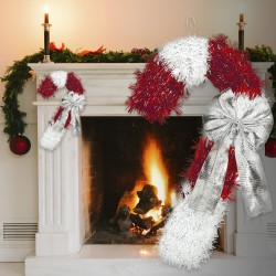 Candy Cane Tinsel Decoration