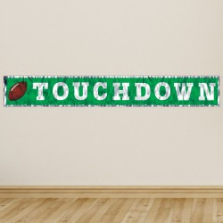 Football Touchdown Fringe Banner