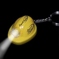 "2"" Yellow Safety Helmet Flashlight Keychain"