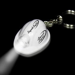 """2"""" White Safety Helmet Flashlight Keychain"""
