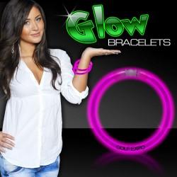 Pink Superior 8 Inch Glow Bracelets
