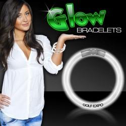 White Superior 8 Inch Glow Bracelets