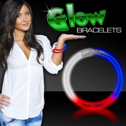 Red-White-Blue Superior 8 Inch Glow Bracelets