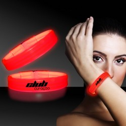 Red Deluxe Triple Wide 9 Inch Glow Bracelet