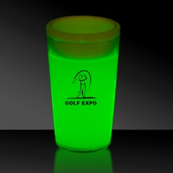 Green 2 Ounce Glow Shot Glass