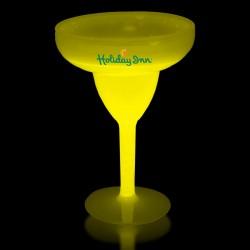 Yellow 10 Ounce Glow Margarita Glasses