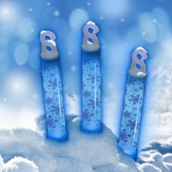 "Blue 6"" Snowflake Glow Sticks"