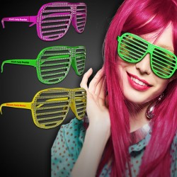 Neon Sparkle Slotted Eyeglasses