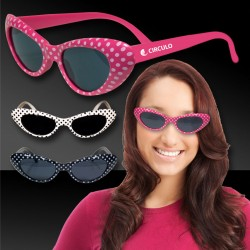 Polka Dot Cat Eye 50's Style Sunglasses